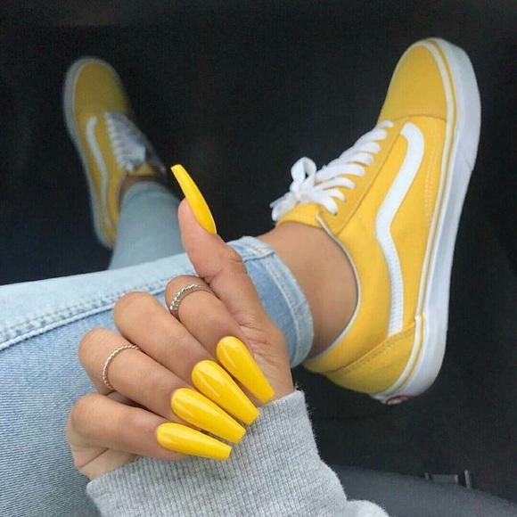 Vans Shoes | Yellow Vans | Poshmark